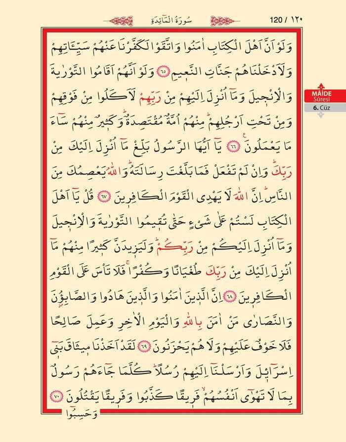 Maide Sûresi - 118.Sayfa - 6. Cüzün 4. Hizbi