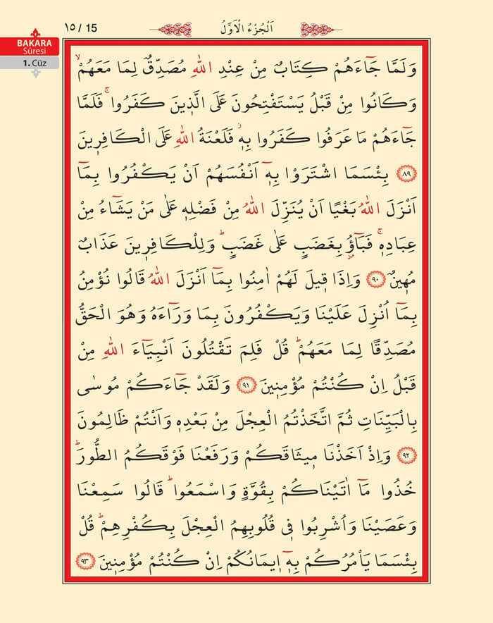 Bakara Sûresi - 13.Sayfa - 1. Cüzün 3. Hizbi