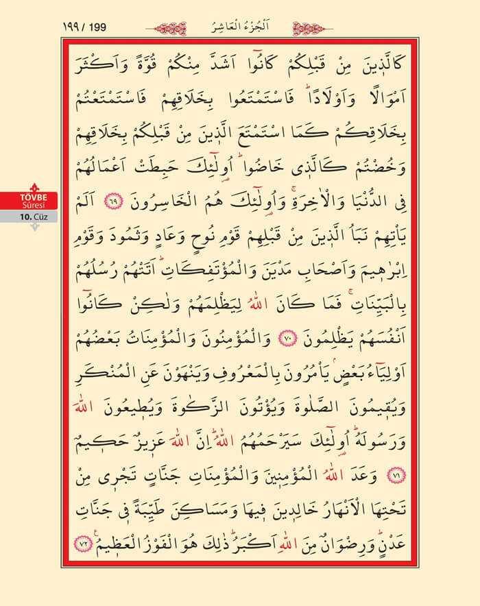 Tövbe Suresi - 197.Sayfa - 10. Cüzün 4. Hizbi