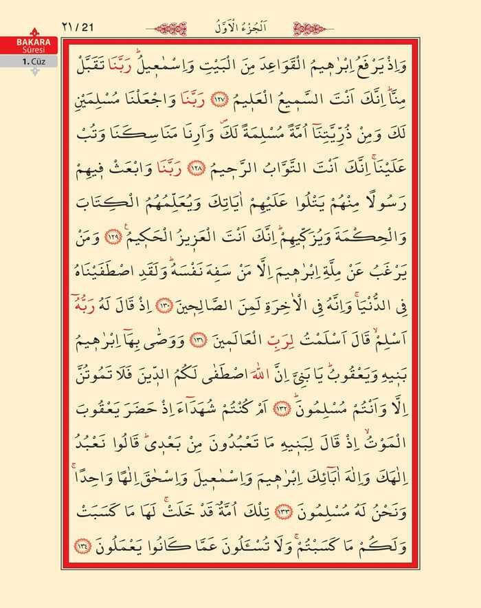 Bakara Sûresi - 19.Sayfa - 1. Cüzün 4. Hizbi
