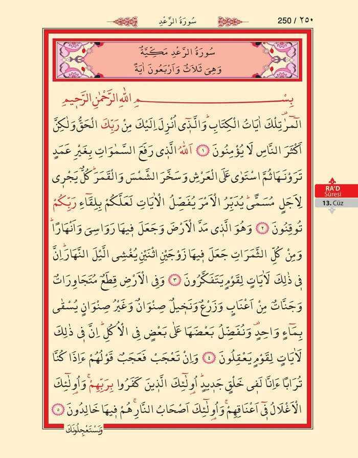 Ra'd Suresi - 248.Sayfa - 13. Cüzün 2. Hizbi