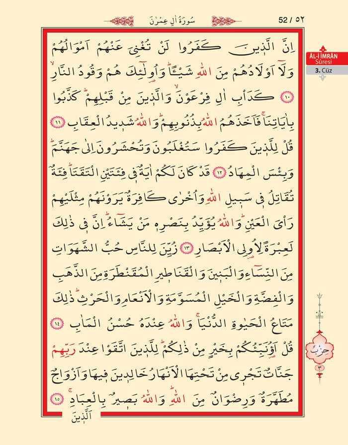 Âl-i İmran Sûresi - 50.Sayfa - 3. Cüzün 2. Hizbi