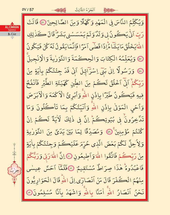 Âl-i İmran Sûresi - 55.Sayfa - 3. Cüzün 3. Hizbi