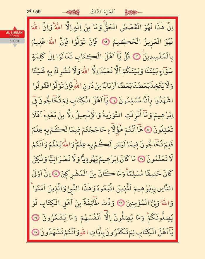 Âl-i İmran Sûresi - 57.Sayfa - 3. Cüzün 4. Hizbi