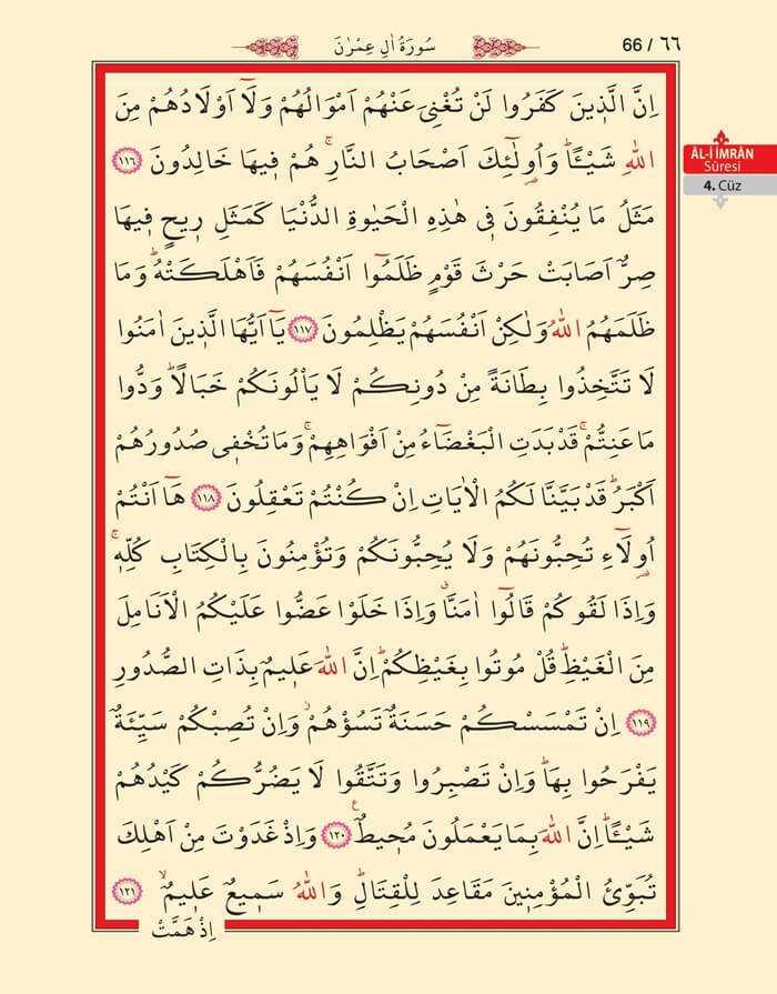 Âl-i İmran Sûresi - 64.Sayfa - 4. Cüzün 1. Hizbi