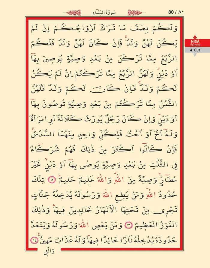 Nisa Sûresi - 78.Sayfa - 4. Cüzün 4. Hizbi