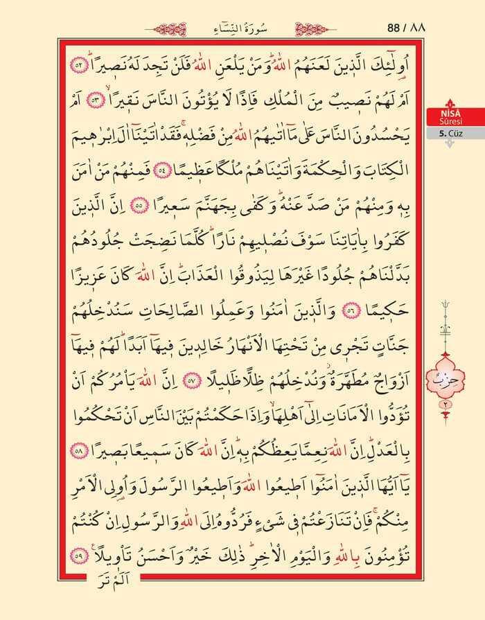Nisa Sûresi - 86.Sayfa - 5. Cüzün 2. Hizbi