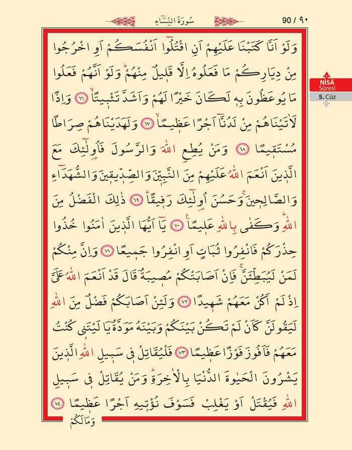 Nisa Sûresi - 88.Sayfa - 5. Cüzün 2. Hizbi