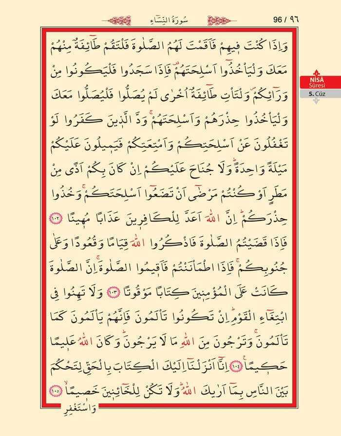 Nisa Sûresi - 94.Sayfa - 5. Cüzün 3. Hizbi