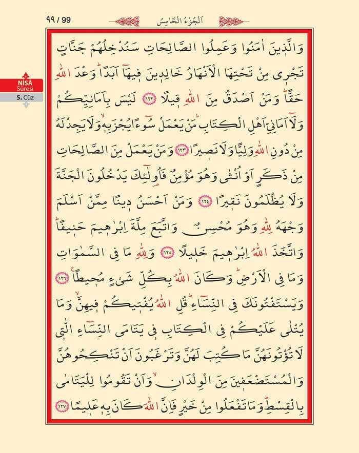 Nisa Sûresi - 97.Sayfa - 5. Cüzün 4. Hizbi