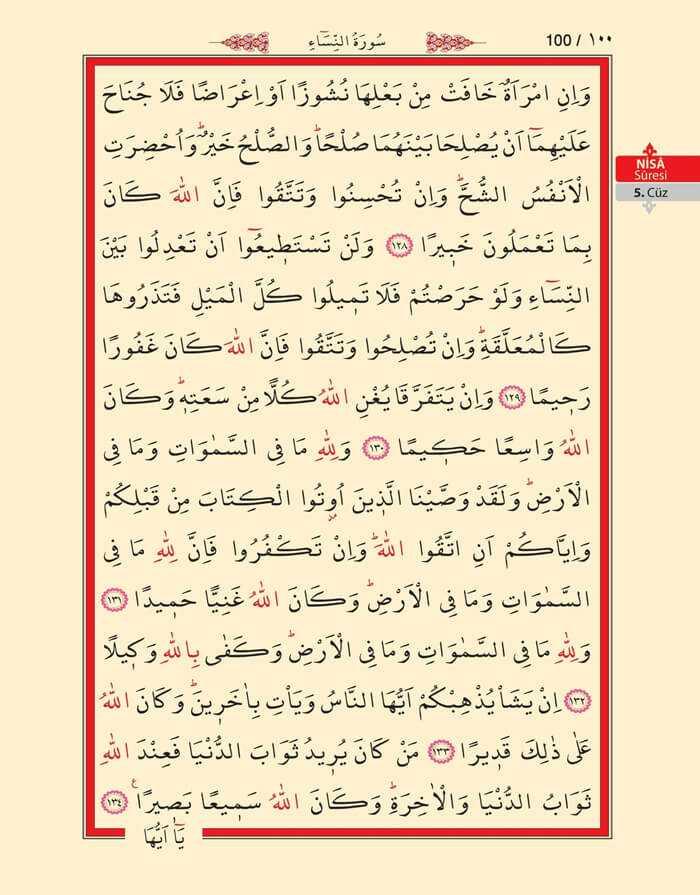 Nisa Sûresi - 98.Sayfa - 5. Cüzün 4. Hizbi